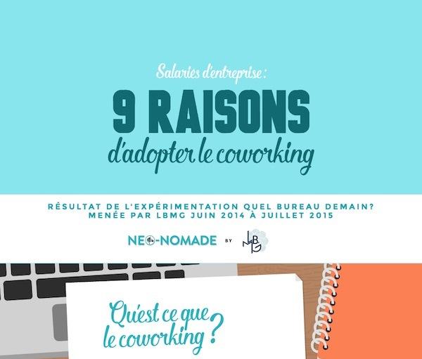 Infographie : 9 bonnes raisons de passer au coworking