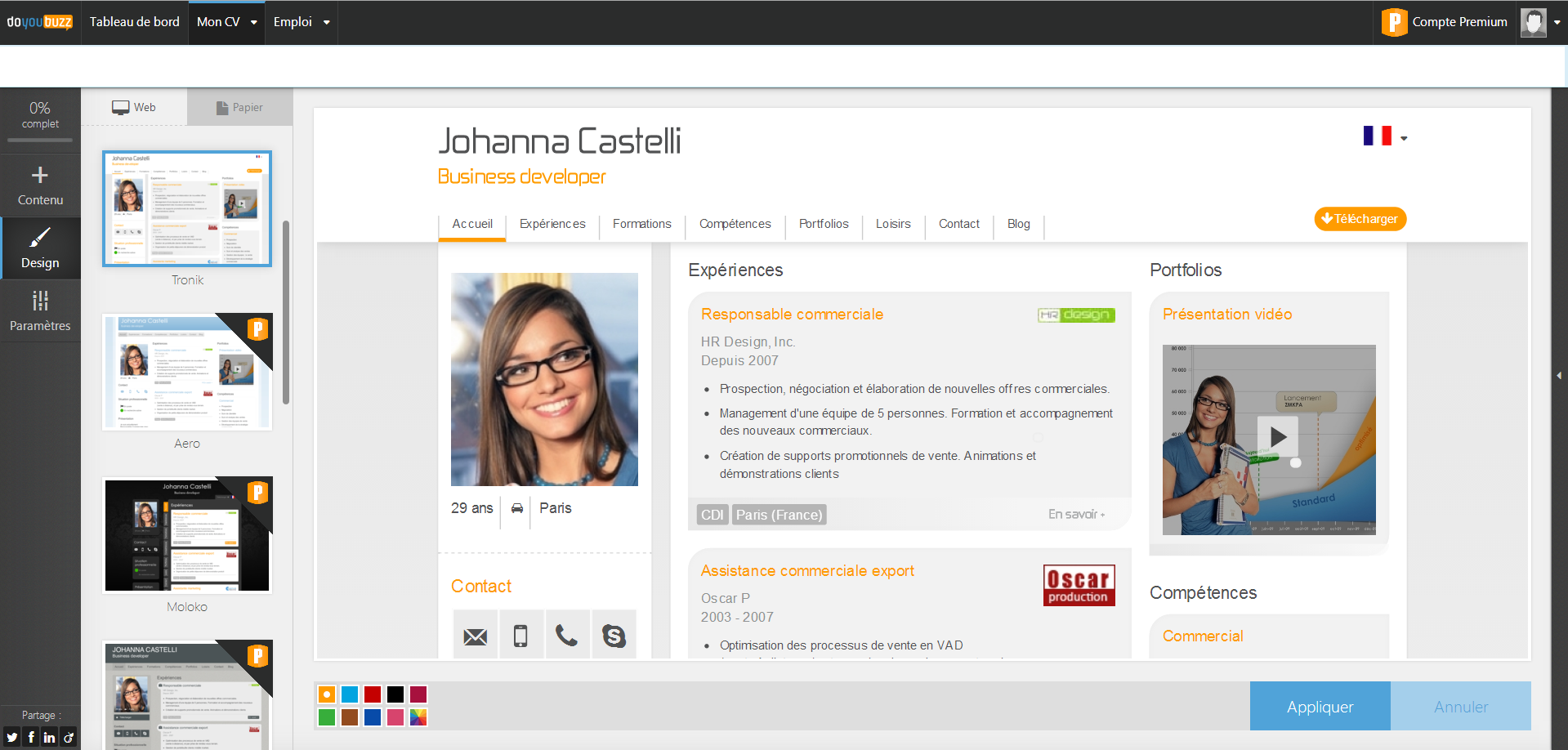 tutoriel   comment cr u00e9er un cv doyoubuzz efficace